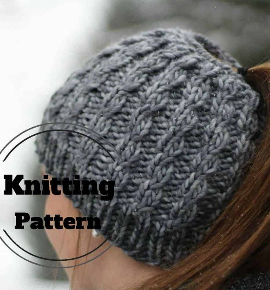 62bbd86dd31 Finding Your Winter Fashion  Best Knitted Messy Bun Hat Patterns
