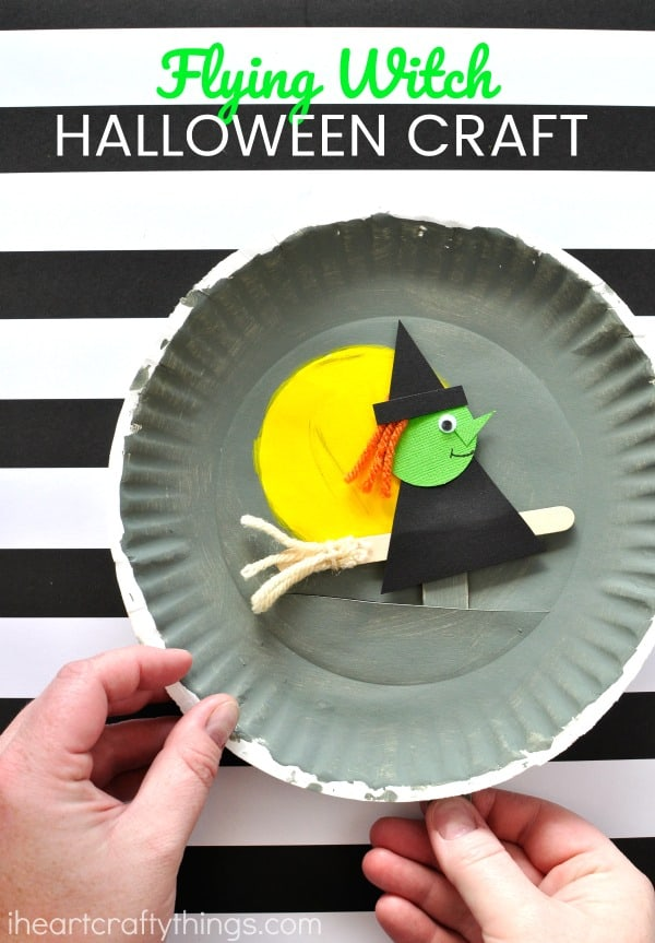 Flying witch Halloween craft