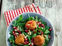 Fried goat cheese and pomegranata salad 200x150 Eating Healthy and Tasty: Fresh Fall Salad Ideas