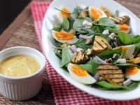 Golden sweet potato and baby spinch salad with egg 200x150 Eating Healthy and Tasty: Fresh Fall Salad Ideas