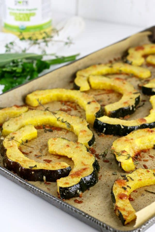 Harb roasted parmesan acron squash