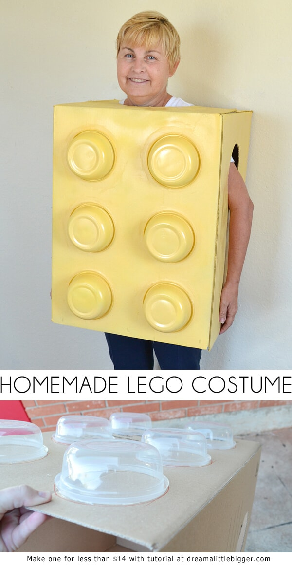 Homemade adult Lego piece costume