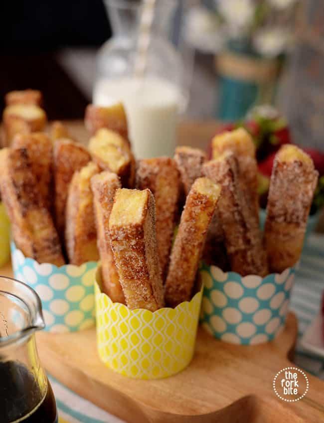 Homemade cinnamon French toast sticks