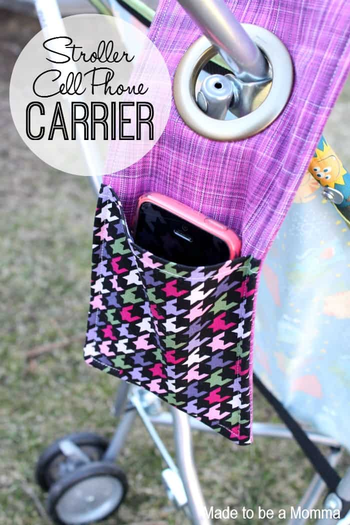 Homemade stroller phone carrer 10 DIY Phone Holders for Creative Users