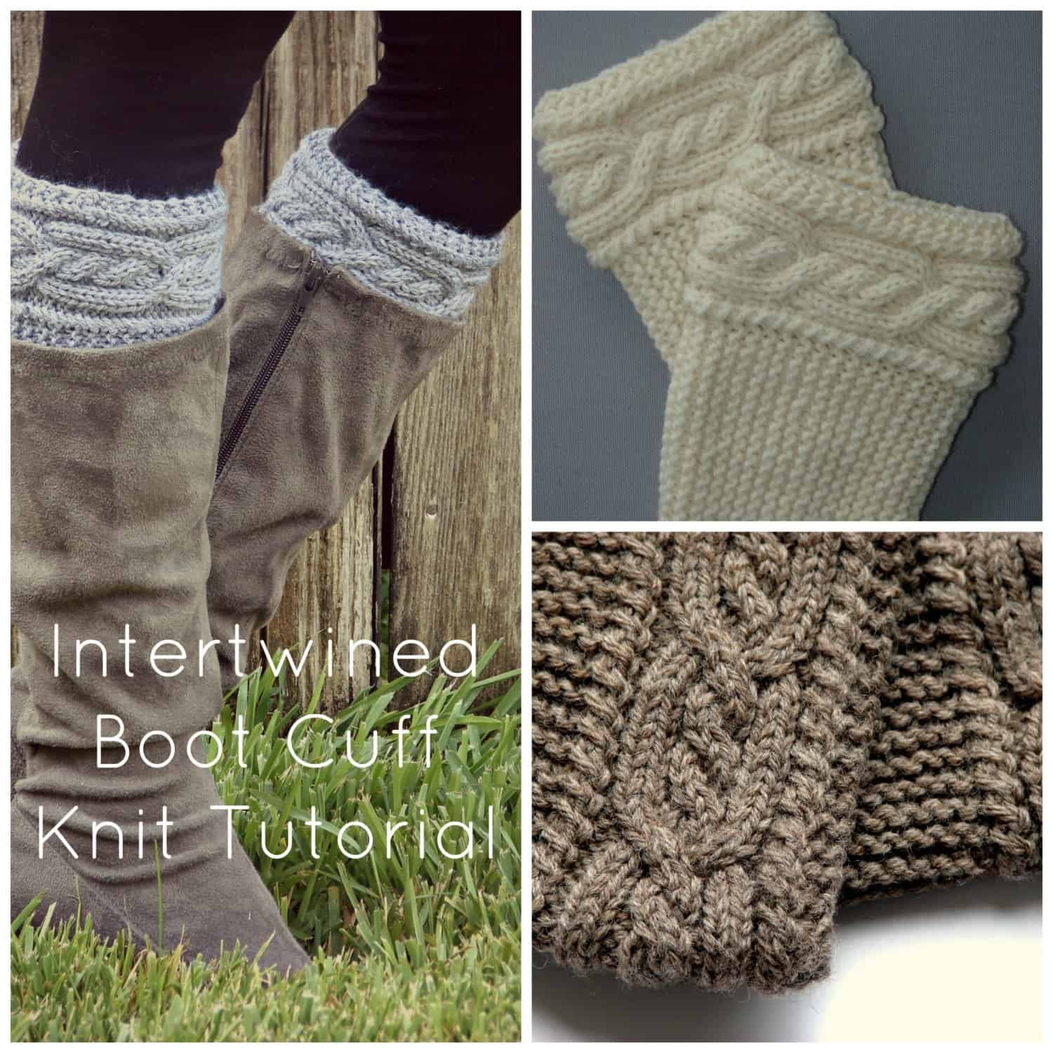 Intertwined Cable boot cuffs