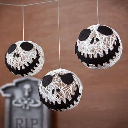 Jack Skellington string orb garland