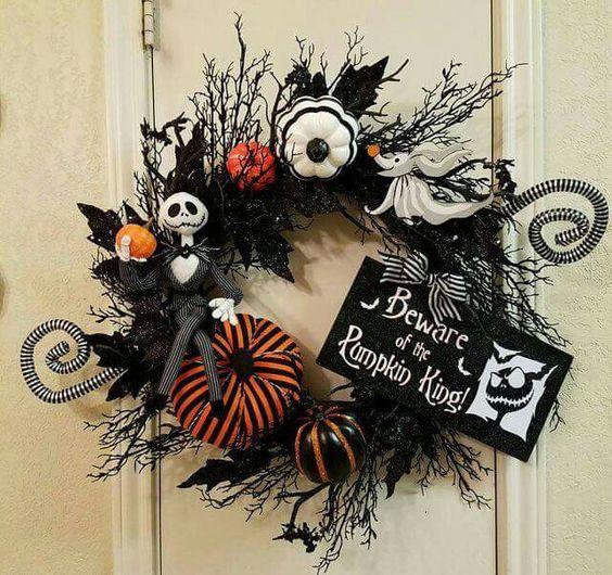 Jack and Zero door wreath