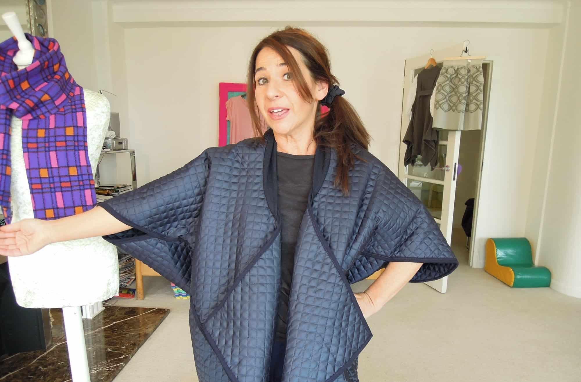Japanese style cocoon coat