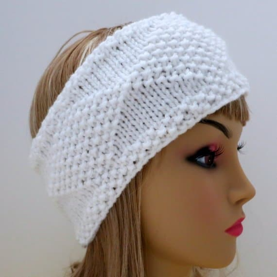 Knit diamonds ear warmer