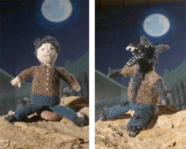 Knitted werewolf