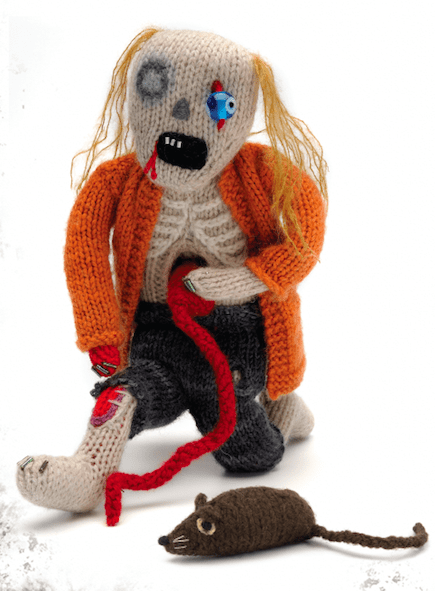 Knitted zombie doll