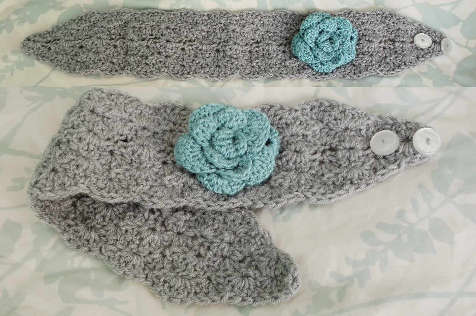 Lacy Shells ear warmer