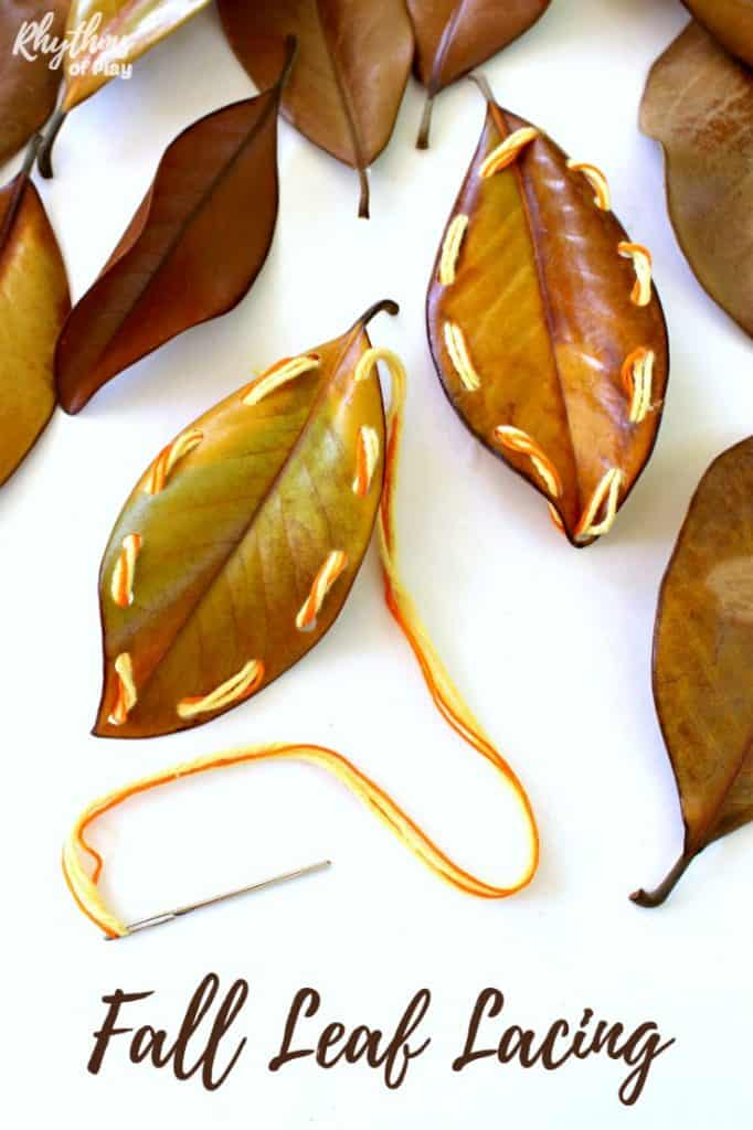 Leaf lacing craft