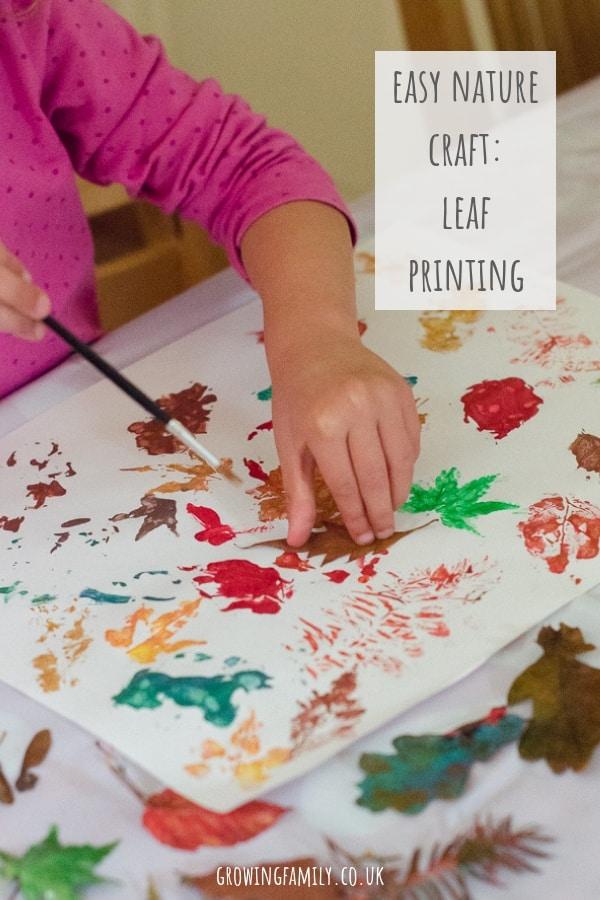 Leaf printing craft