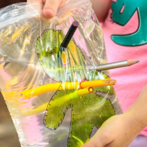 Leak-proof zombie voodoo doll bag experiment