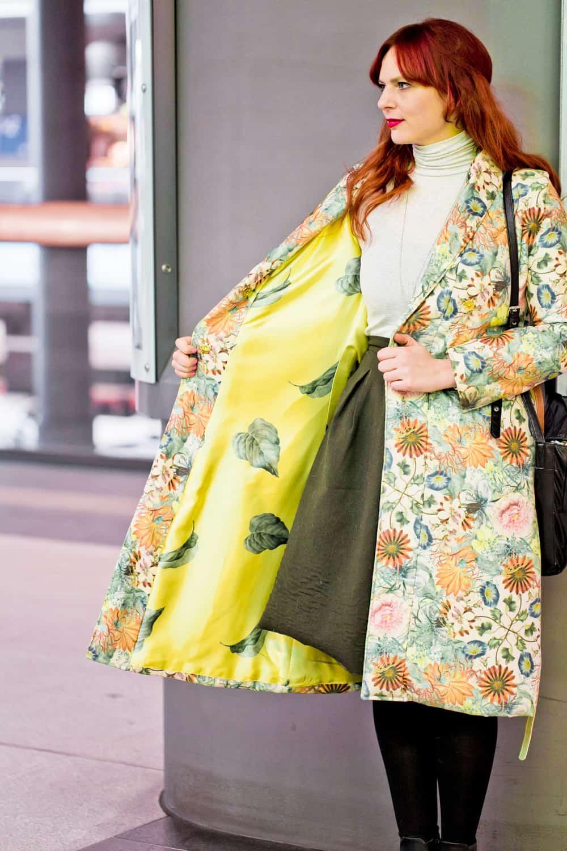 Lined robe coat
