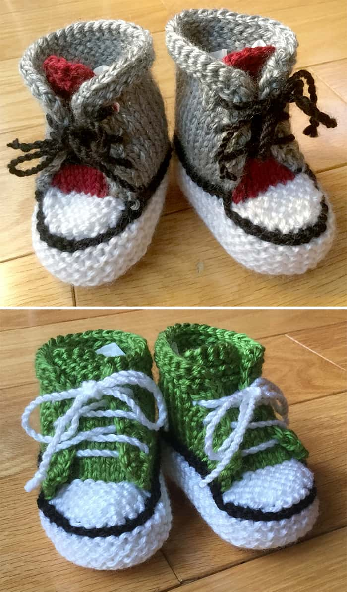 Litte Converse baby booties