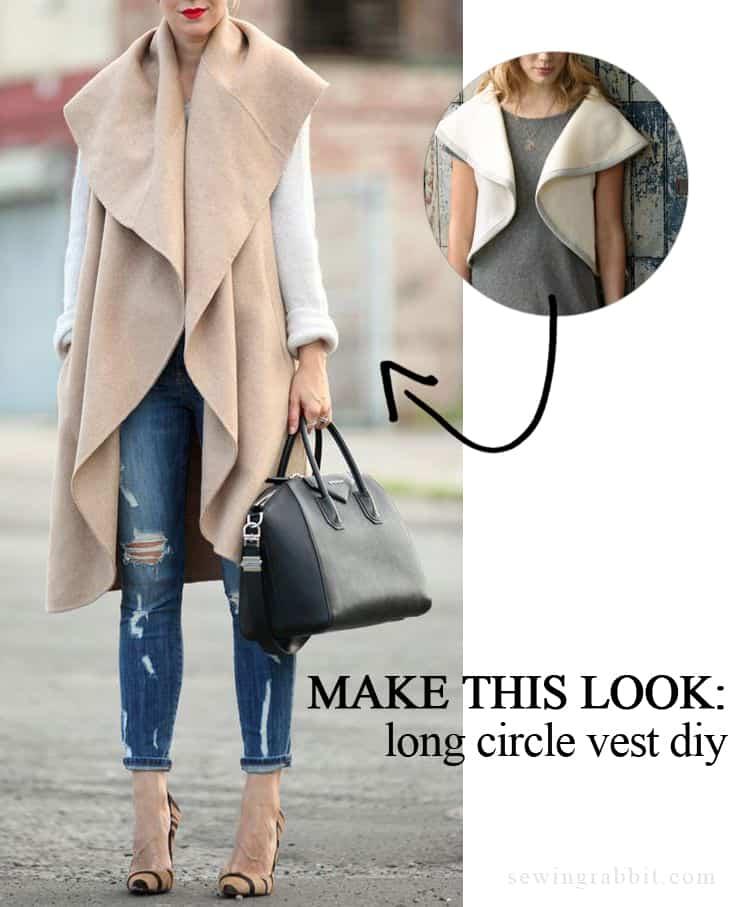 Long circle vest