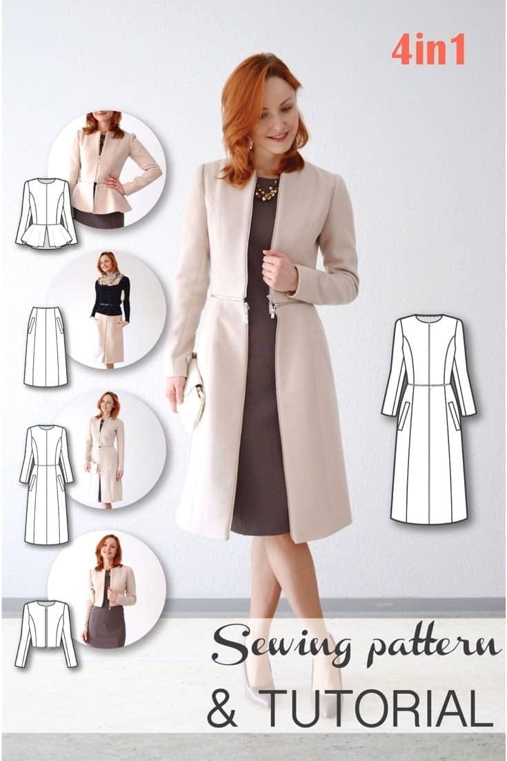 Longer blazer coat