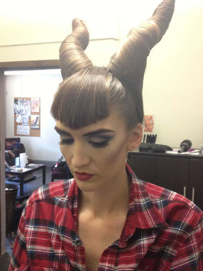Maleficent hair horns
