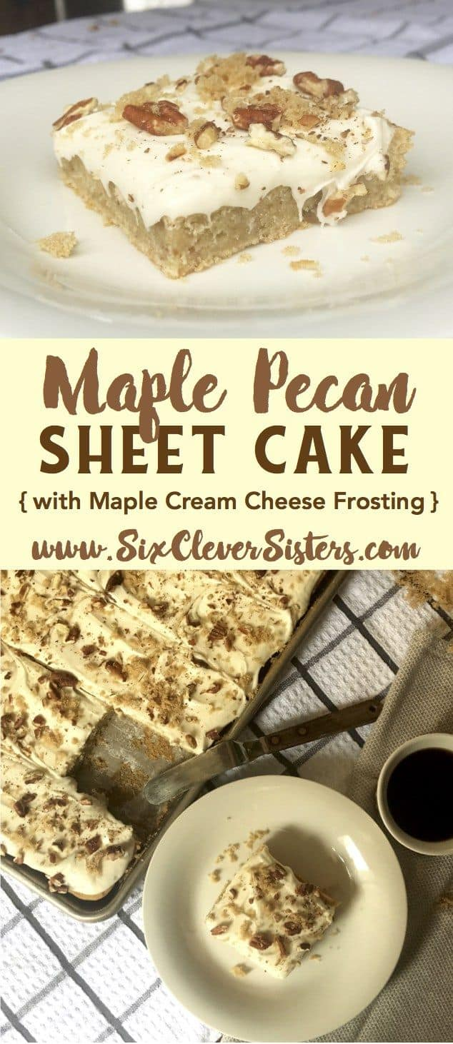 Maple pecan sheet cake