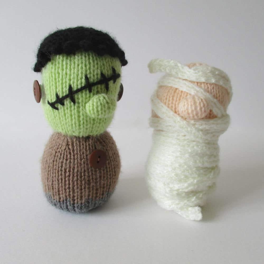 Mini Frankenstein and mummy
