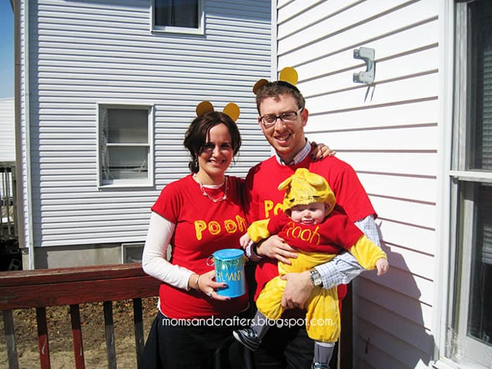 No-sew adult Winnie The Pooh costume