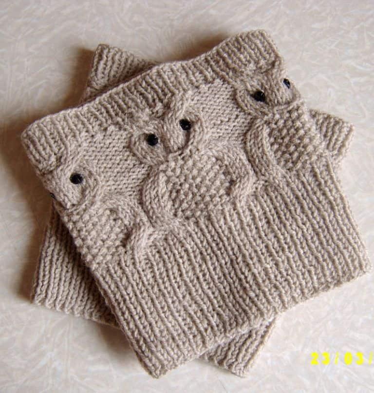 Owl boot cuffs