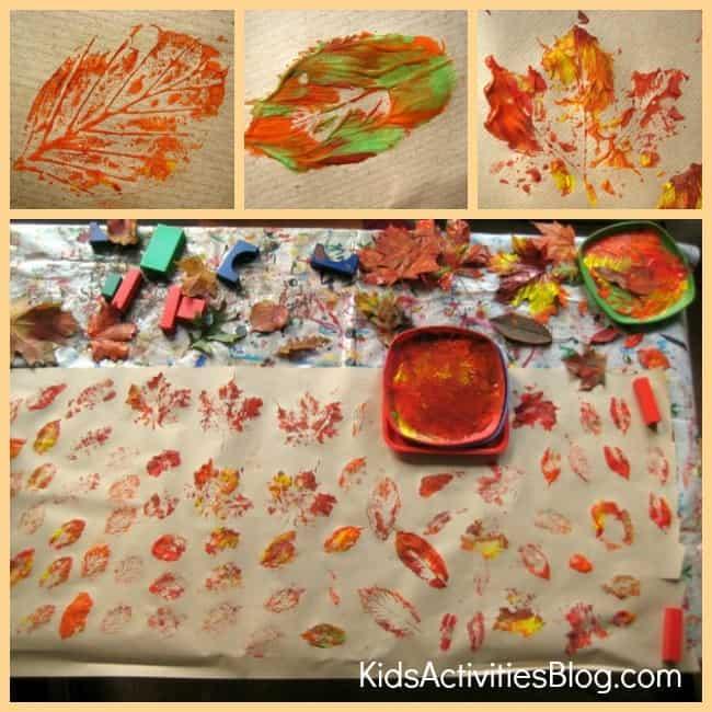 Paint printed leaf paper