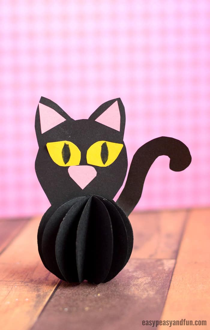 Paper ball black cat