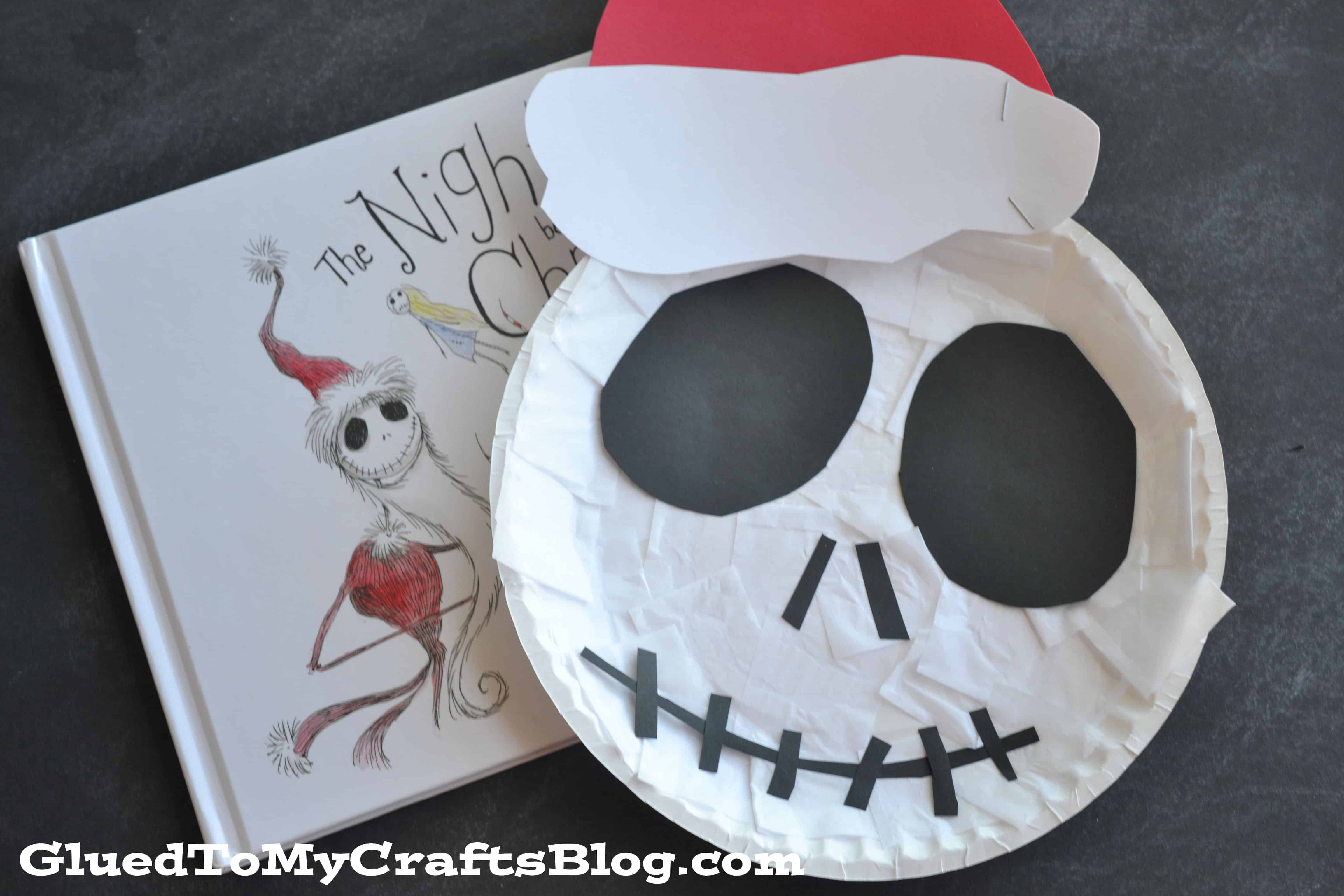 Paper plate Jack 15 The Nightmare Before Christmas Themed Crafts