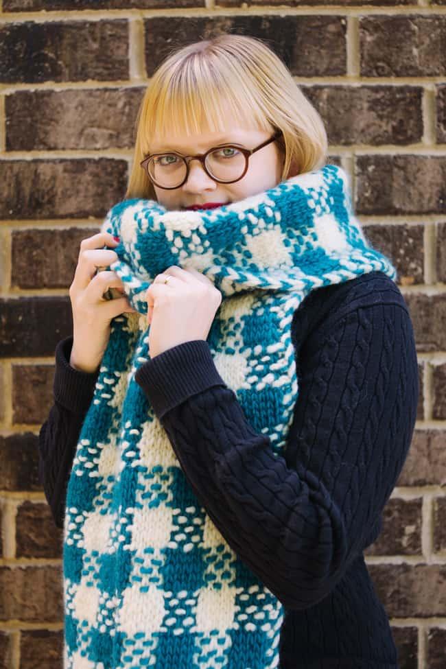 Plaid super scarf
