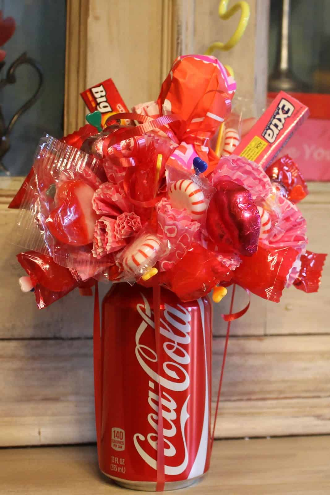 Pop can candy bouquet