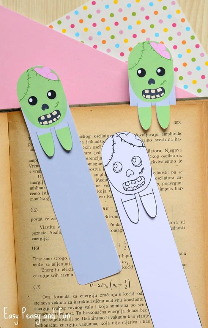 Printable zombie bookmarks