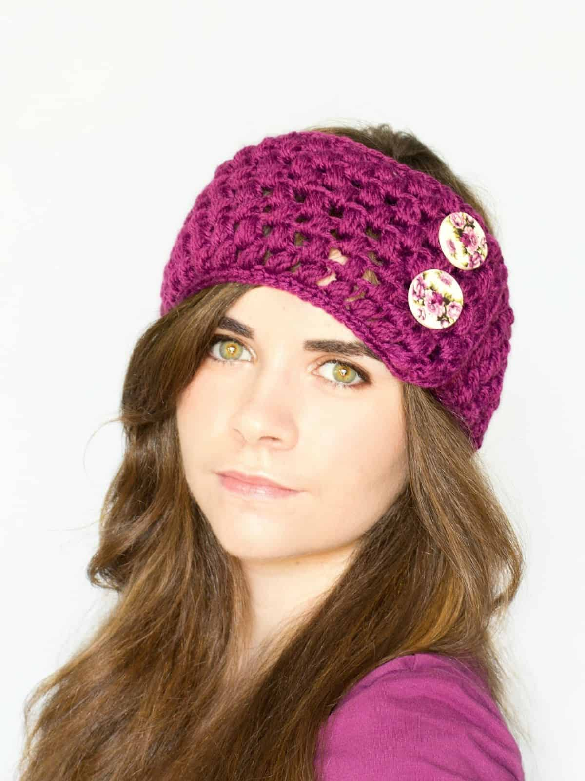 Puff Stitch ear warmer