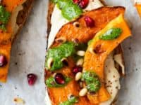 Pumpkin crostini with arugula and pesto 200x150 Delicious Entrees Made With Pumpkin