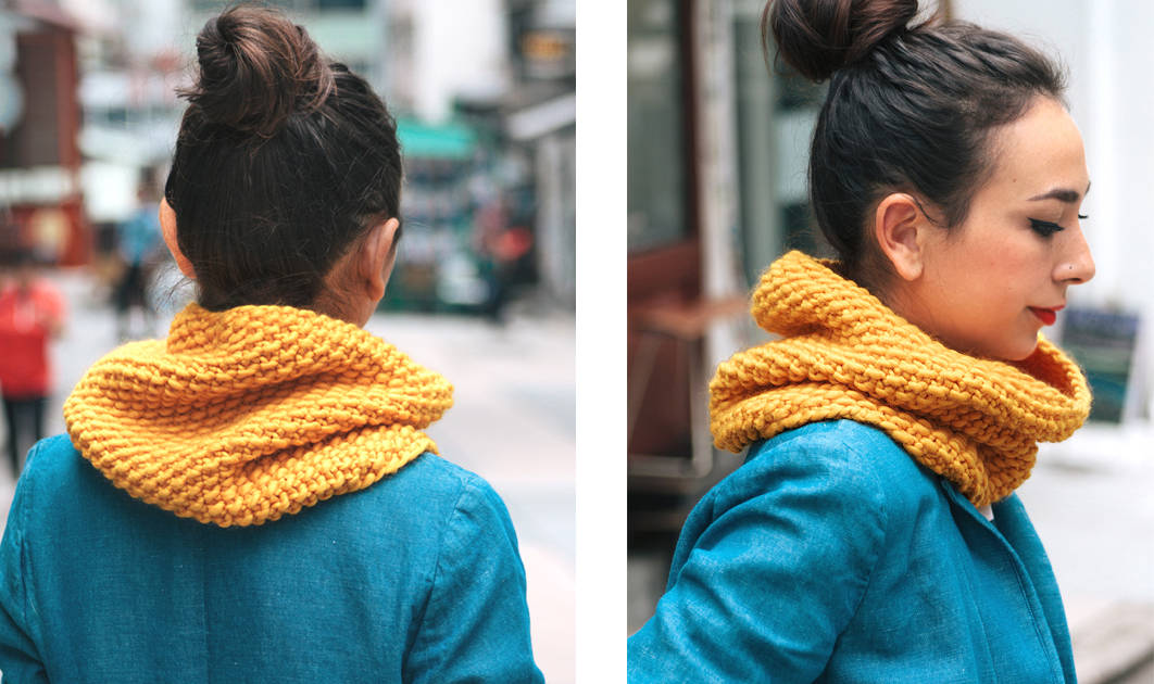 Seed stitch cowl 15 Knitted Scarf and Cowl Patterns for Fall