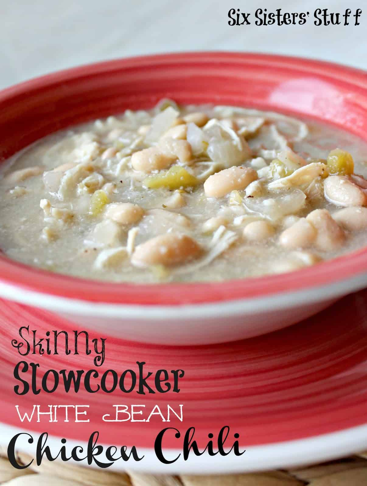 Skinny slow cooker white bean chicken chilli