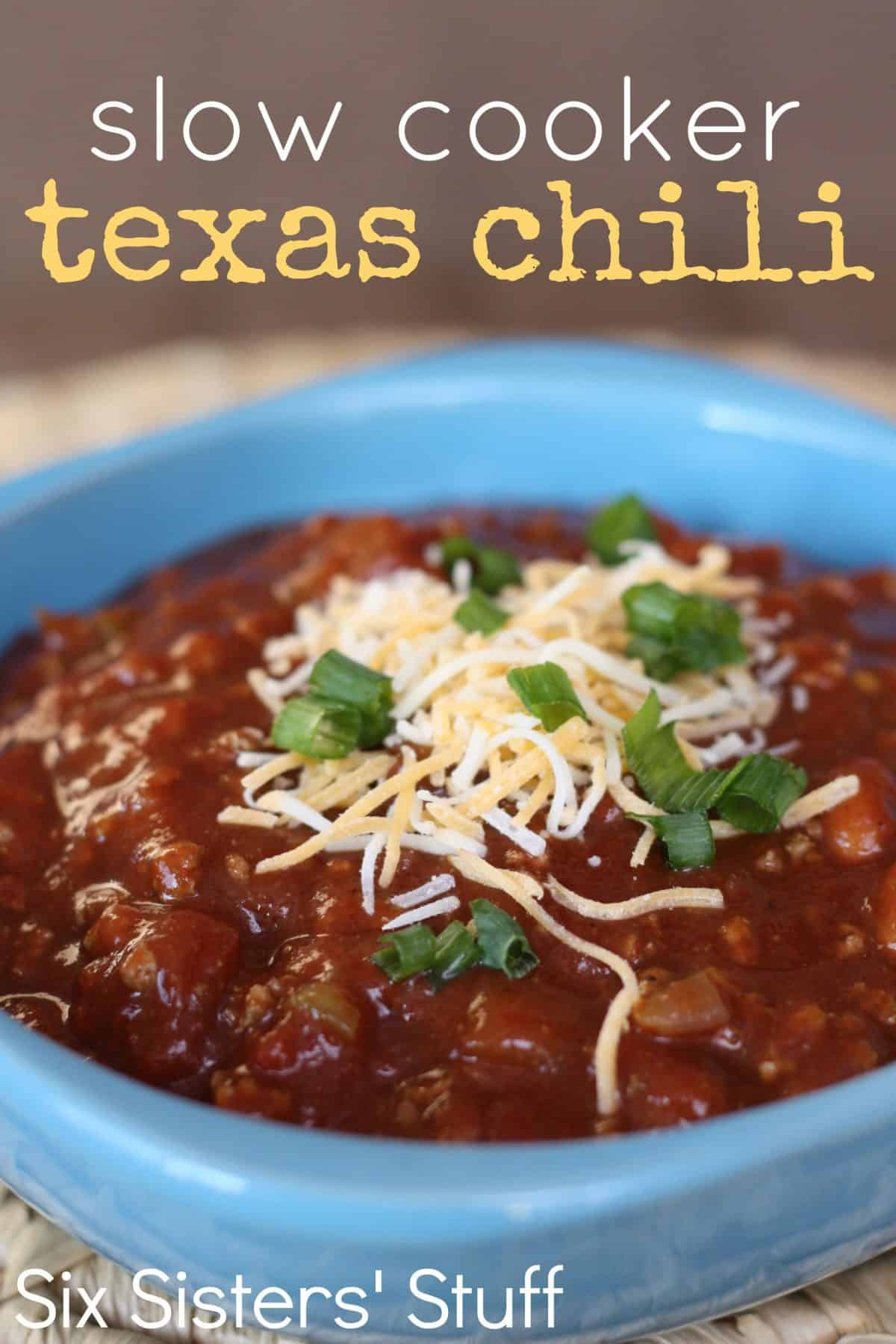 Slow cooker Texas chilli