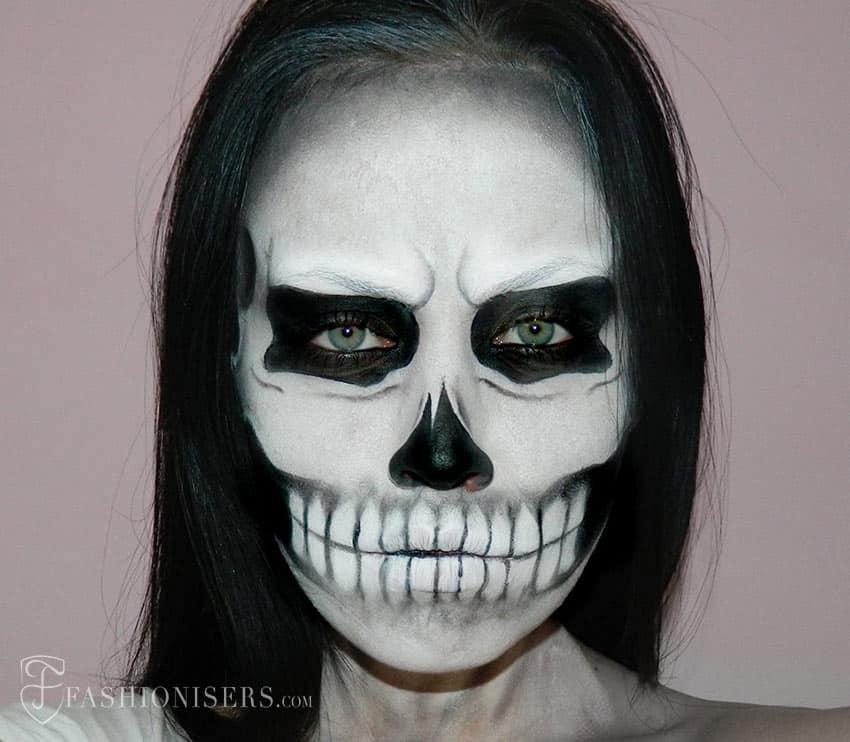 Spooky skull makeup