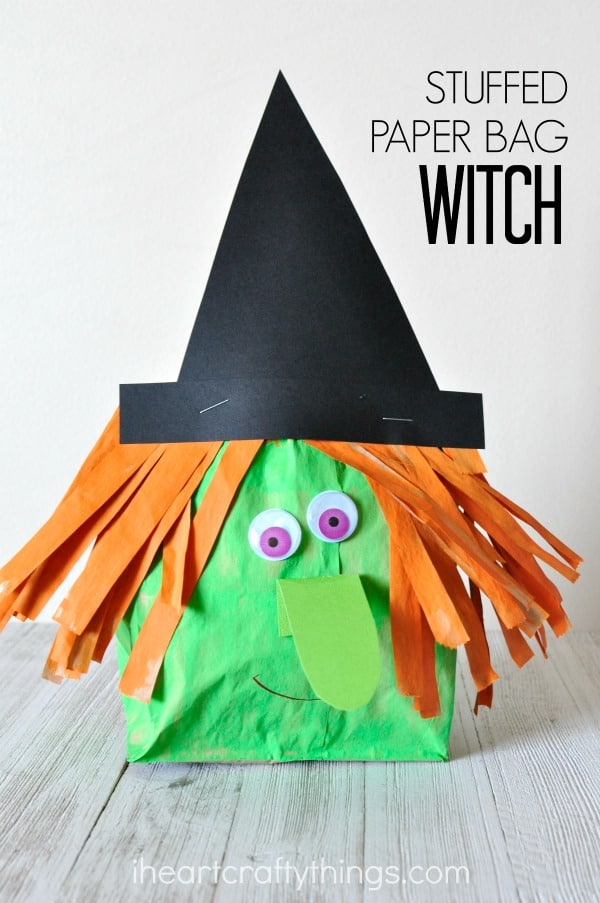 Stuffed paper bag witch