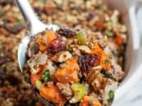 Sweet potato and pork stuffing 200x150 Festive Treat: Delicious Homemade Stuffing Recipes for Thanksgiving