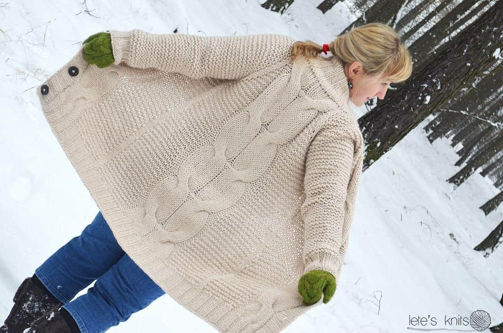 The Big Cable oversized sweater 15 Super Warm Fall Knitting Patterns