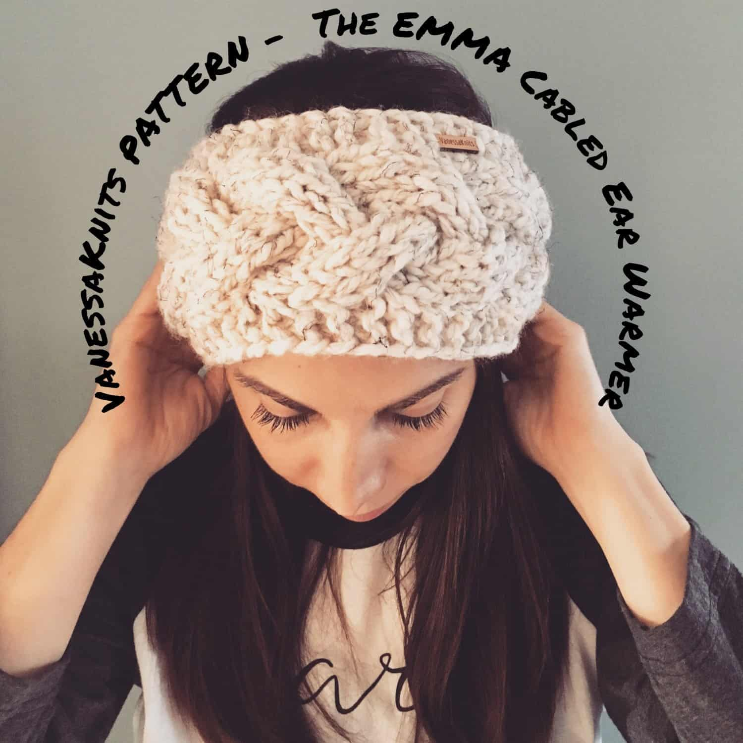 The Emma cabled ear warmer
