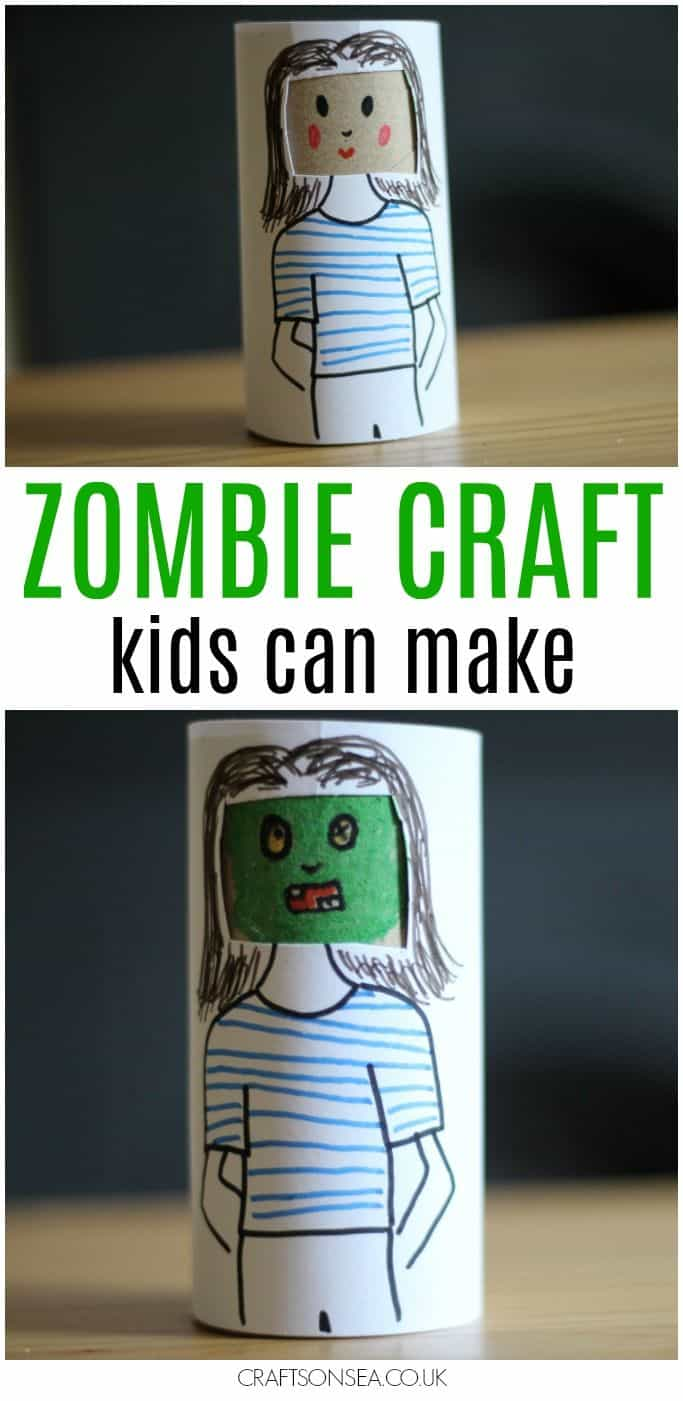 Toilet roll zombie doll
