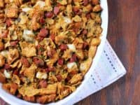 Tortilla chip chorizo stuffing 200x150 Festive Treat: Delicious Homemade Stuffing Recipes for Thanksgiving