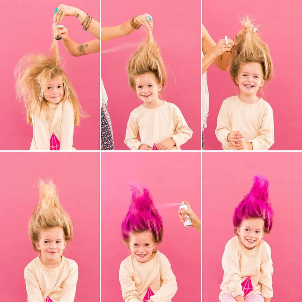 Troll doll hair