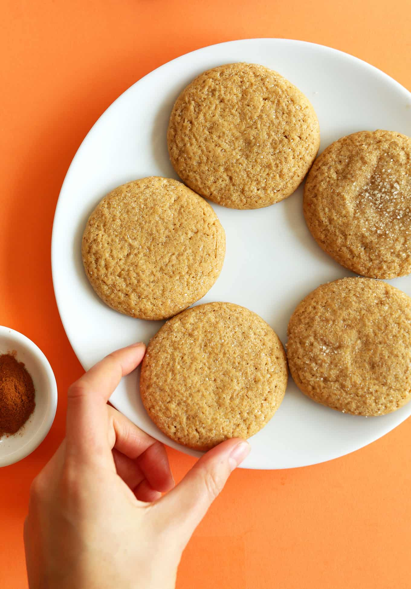 Vegan pumpkin sugar cookies