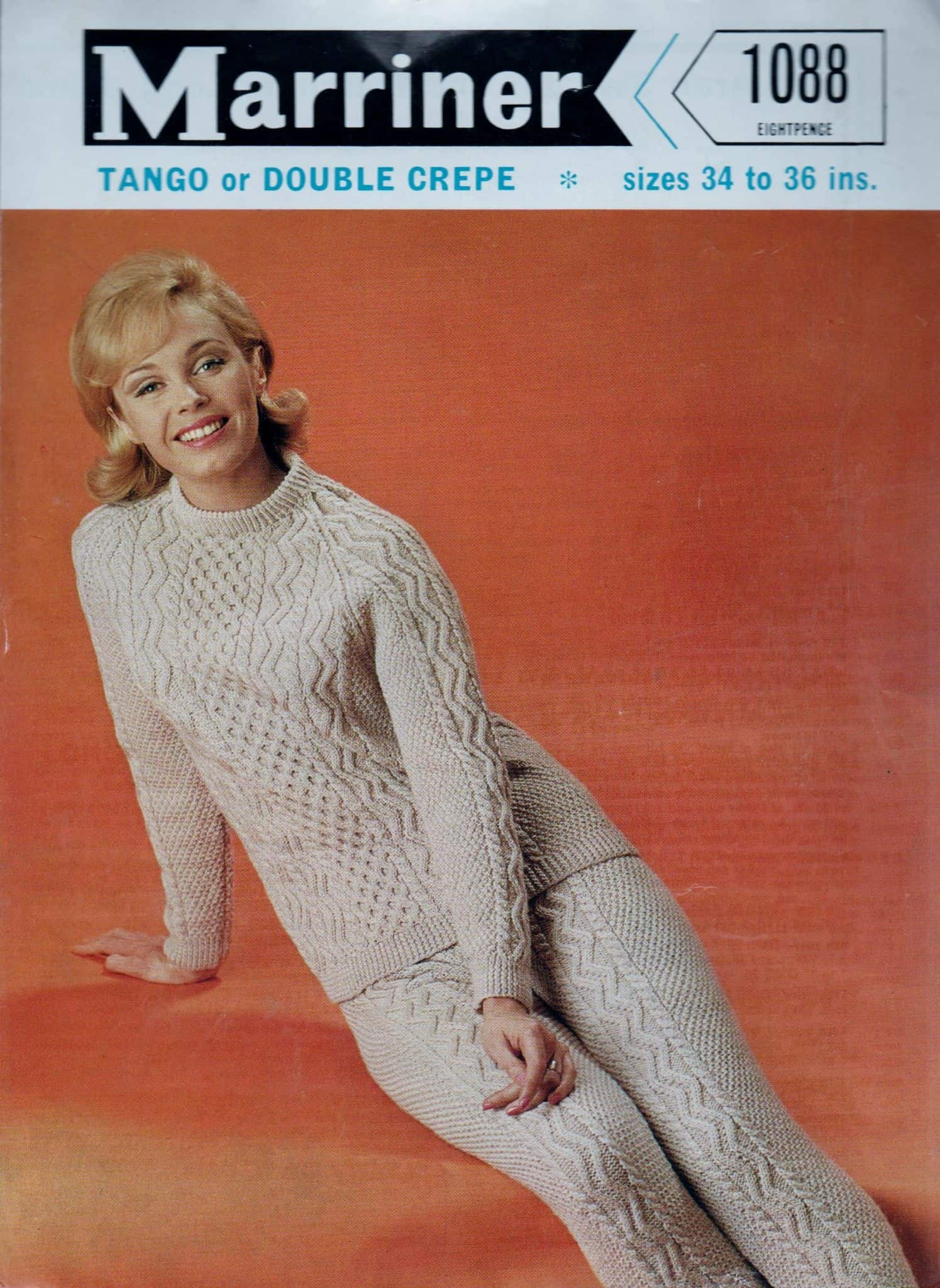 Vinage cabled sweater and leggings pattern