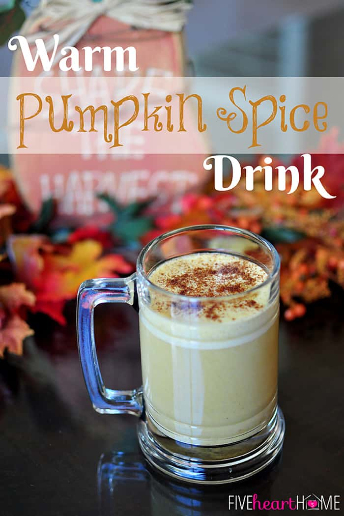 Warm pumpkin spice drink